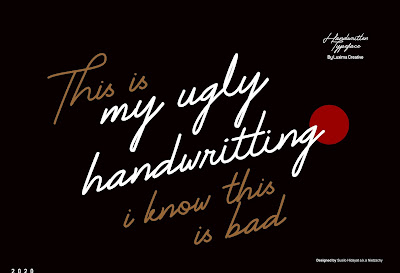 Free Font: My Ugly Handwritting
