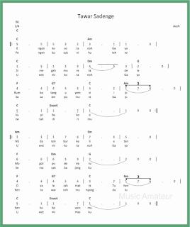 not angka lagu tawar sadenge lagu daerah aceh