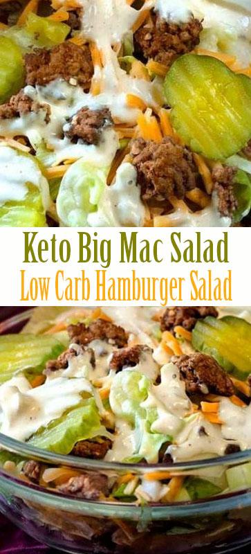 Best Ever #Keto Big Mac Salad   #Lowcarb #Hamburger #Salad #recipe