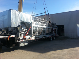 Delivering the commercial equipment for installation