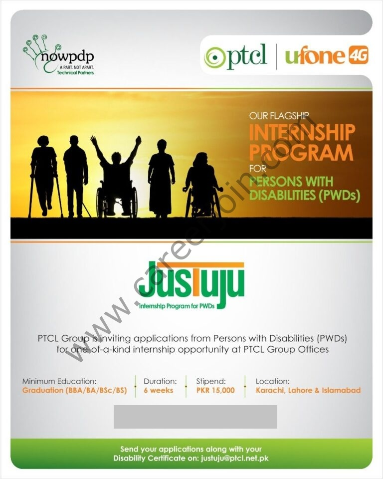 PTCL Ufone Internship Program for Persons with Disabilities PWD