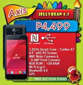 Cherry Mobile Axis, Cheapest NFC Certified Smartphone