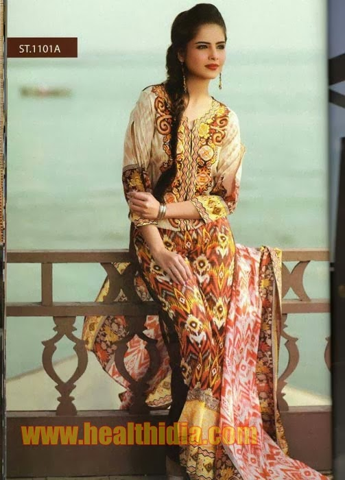 Dilkash Spring Prints Dress Collection 2014-15 For Girls
