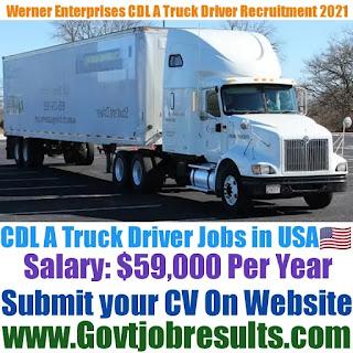 Werner Enterprises CDL A Truck Driver Recruitment 2021-22