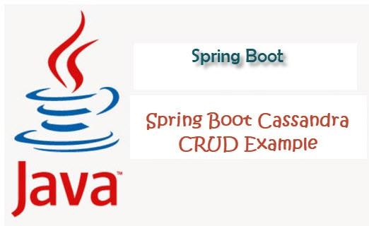 Spring boot spring data Cassandra crud example