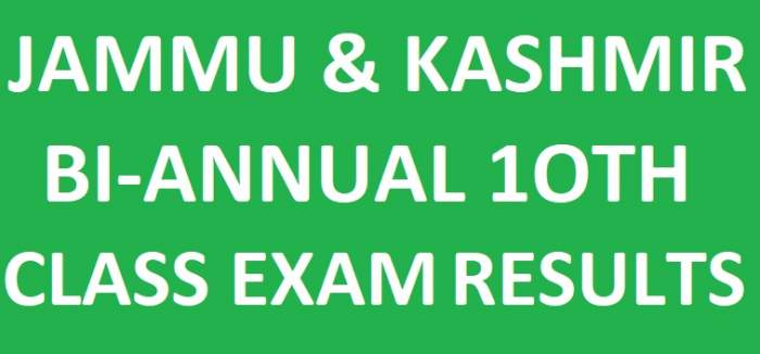 JKBOSE 10th Results 2018