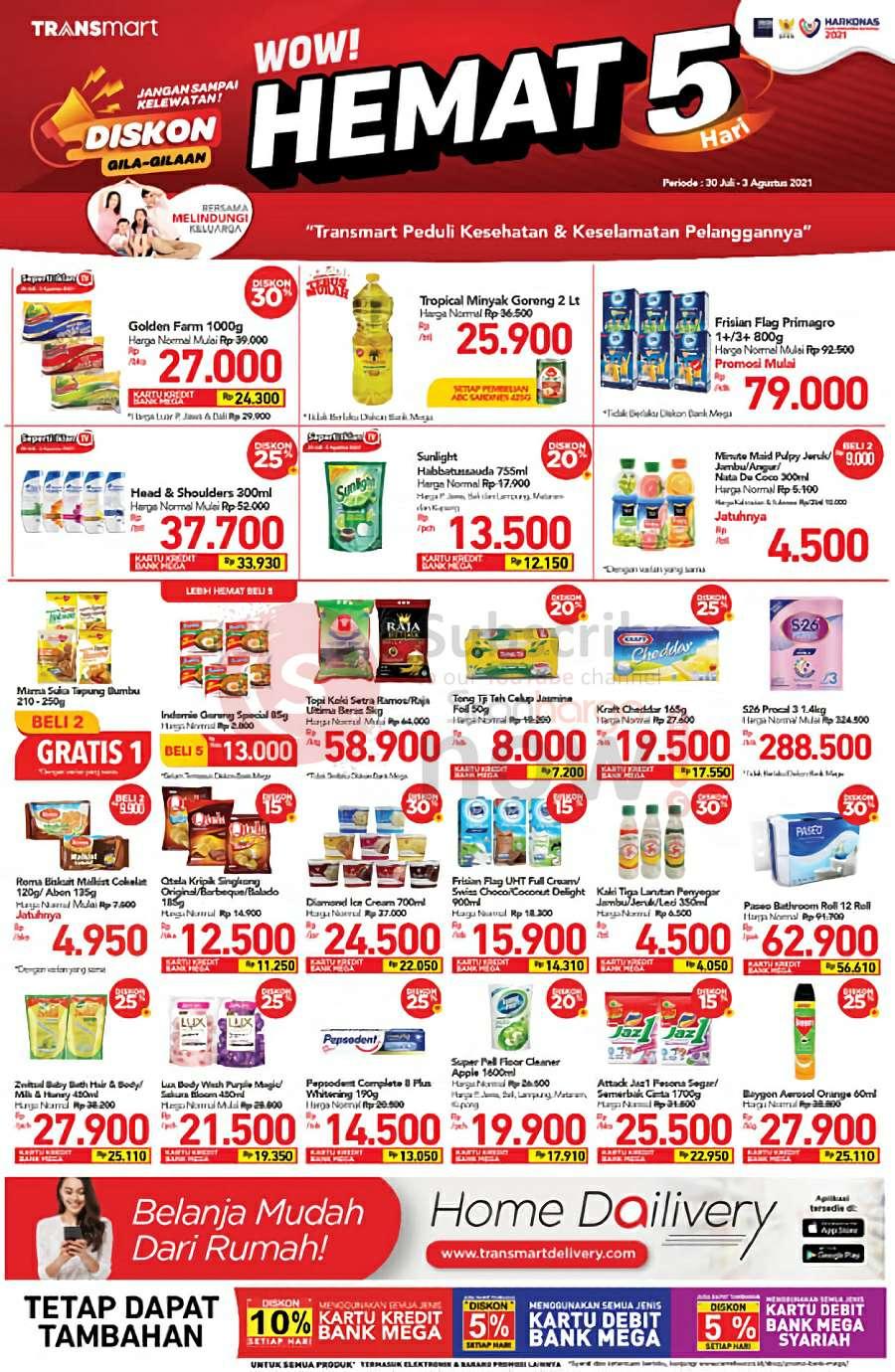 Katalog Promo JSM Carrefour Transmart Weekend 30 Juli - 3 Agustus 2021