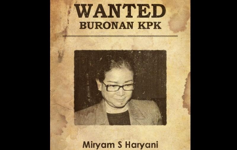 Miryam S Haryani, Buronan KPK