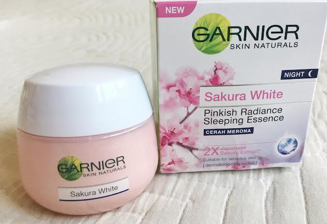 [REVIEW] Wajah Glowing dengan Rangkaian Garnier Sakura White
