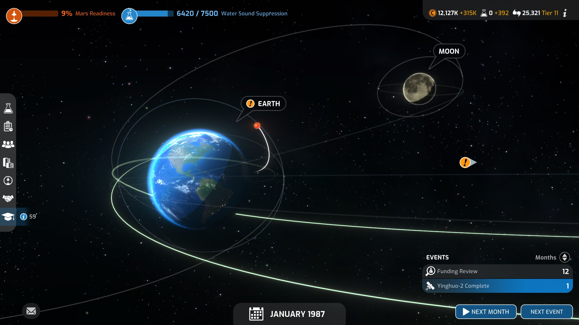 Mars Horizon Solar System Screen