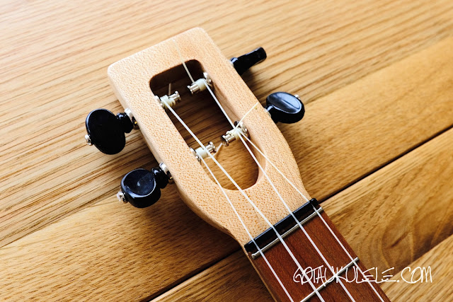 Magic Fluke SB Electric Tenor Ukulele headstock