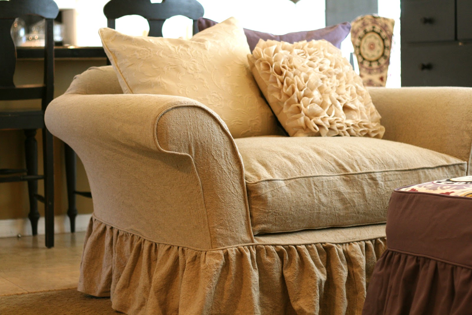 Custom Slipcovers By Shelley Marylu S Tan Linen Slipcovers