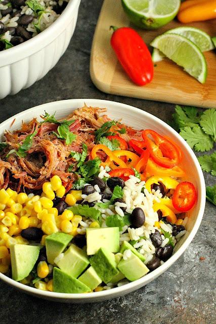 pork carnitas burrito bowl slow cooker recipe