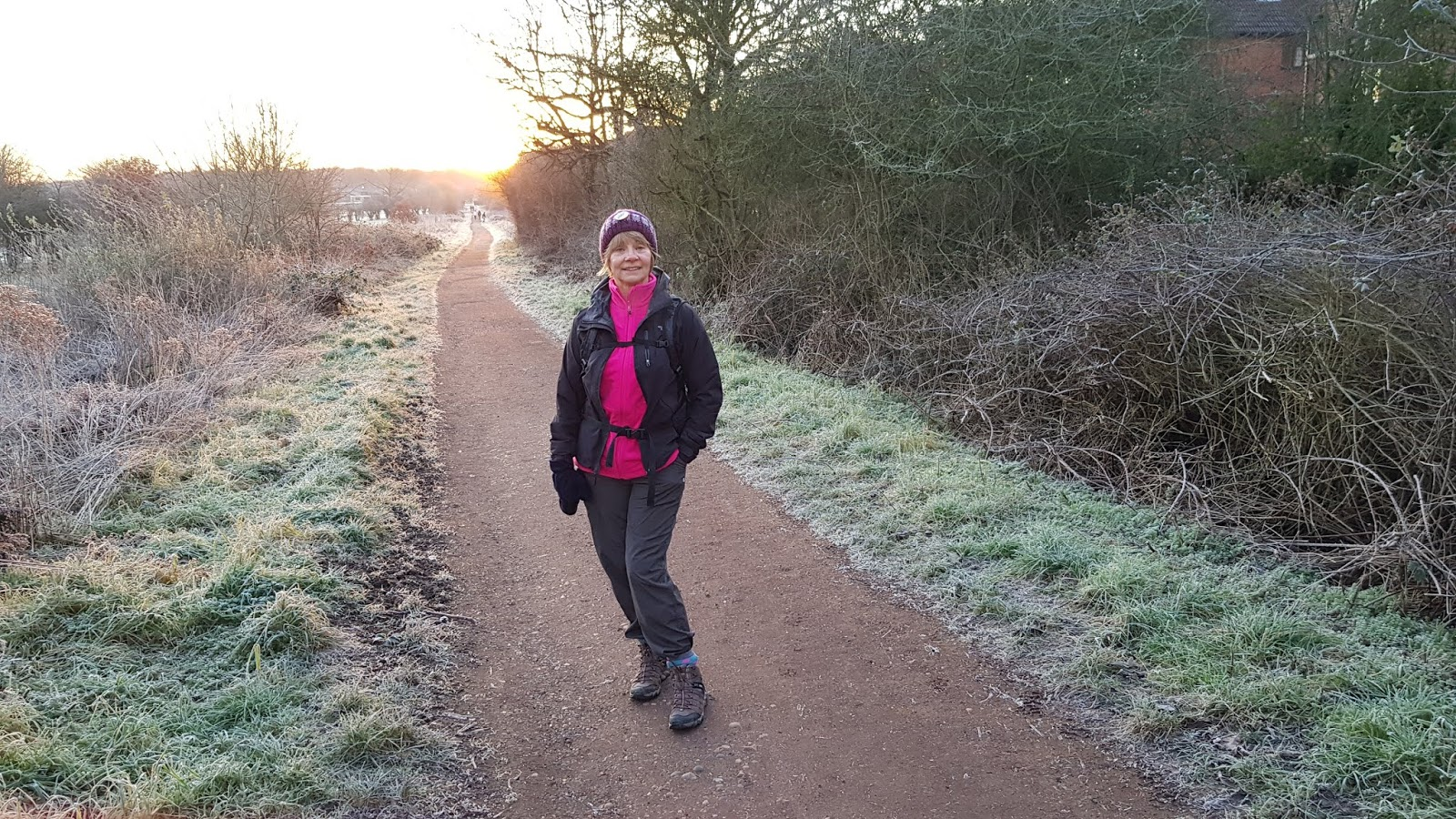 Style blogger Gail Hanlon dressed for a winter's walk in Epping Forest