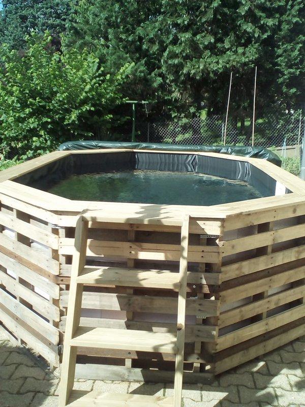 Ejemplos de piscinas hechas con palets for Piscina con palets