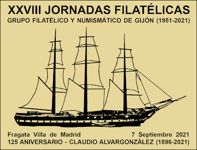 filatelia, matasellos, Jornadas, Gijón, 2021