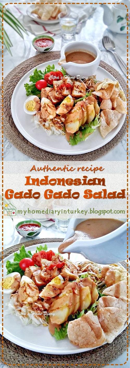Indonesian National Food Recipe - GADO GADO / Resep gado-gado khas Surabaya    Çitra's HOme Diary. #indonesiansalad #indonesiangadogadorecipe #indonesianfoodrecipe #veganrecipe #tofu #resepgadogado #gadogadosurabaya #rujak #howtomakegadogado