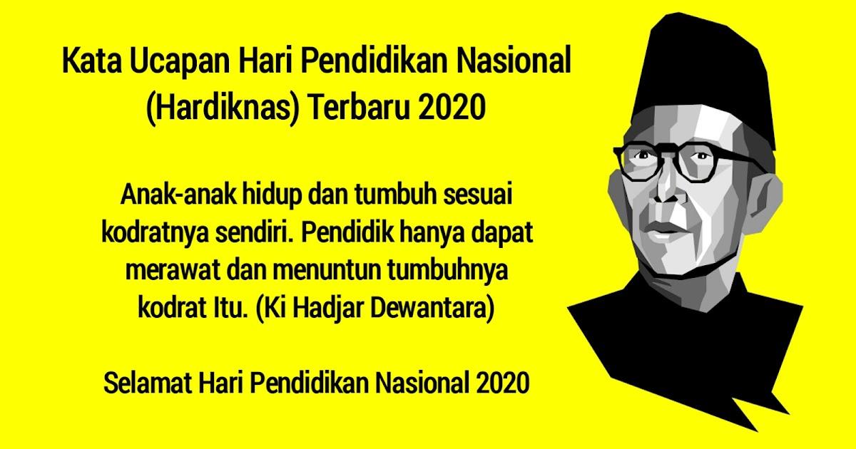 Kata Ucapan Hari Pendidikan Nasional Hardiknas Terbaru 2021