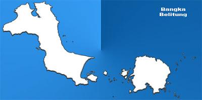 image: Bangka Belitung blank map