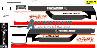 Download livery bus Harapan Jaya Legacy SR2 DD