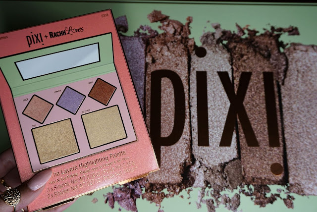 The Layers highlighting palette in collaboration with Rachh loves review pixi beauty