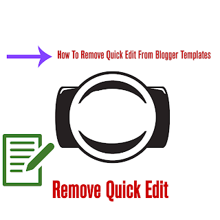 how to remove quick edit