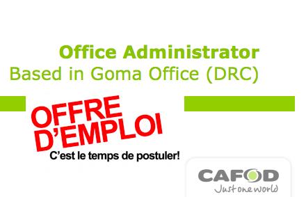Offres D Emplois Office Administration Cafod Drc Poste Base A