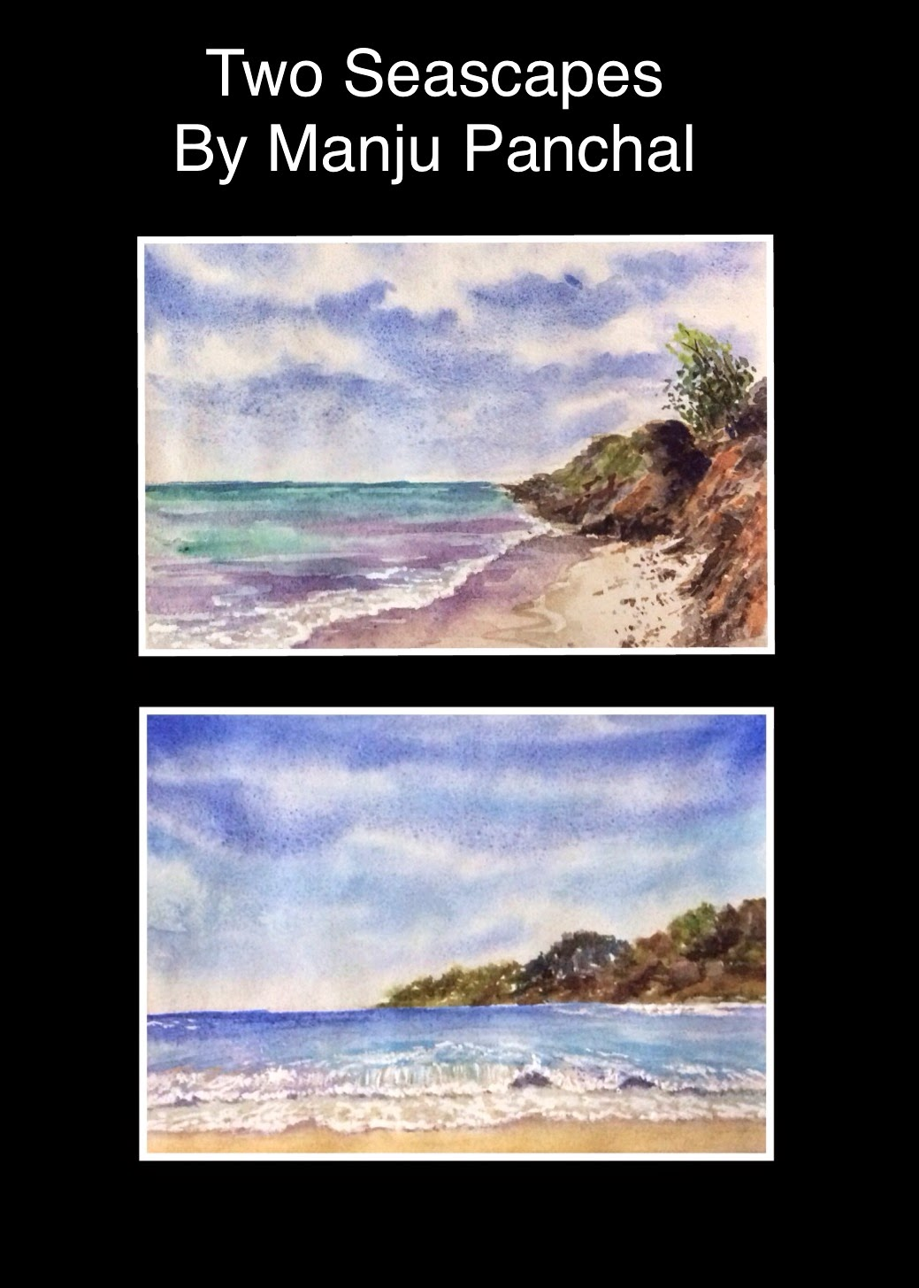 water colour painting of seascapes by manju Panchal