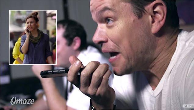 Matt Damon doing a Jason Borne prank to unsuspecting people
