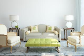 warna cat dinding ruang tamu yang bagus Creamy Living Room