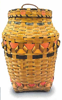 Many of the baskets in the exhibition will share their stories with visitors. This basket, crafted in the 1960s, shares that it was sold in order to help its maker earn a living. Image courtesy of Dr. John N. Low.