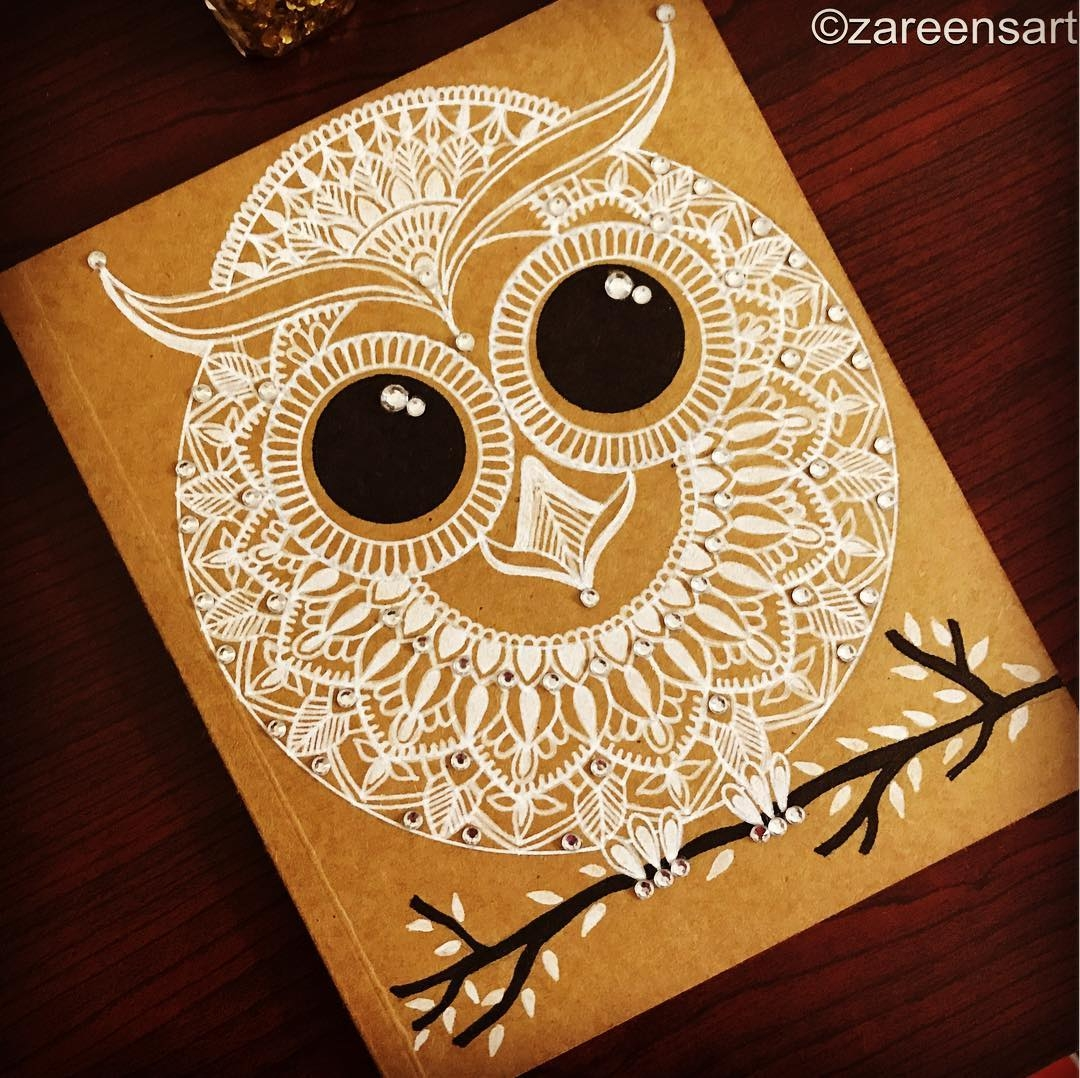 03-Owl-journal-with-crystals-Mandala-Drawings-on-Journals-Calendar-and-Boxes-www-designstack-co