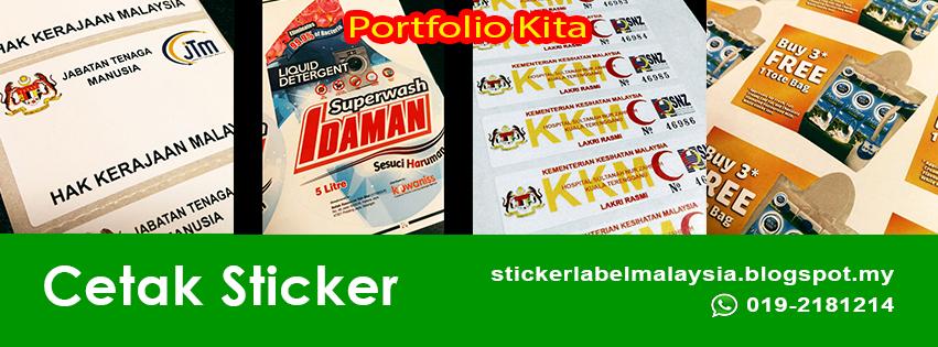 Sticker label printing kuala lumpur malaysia