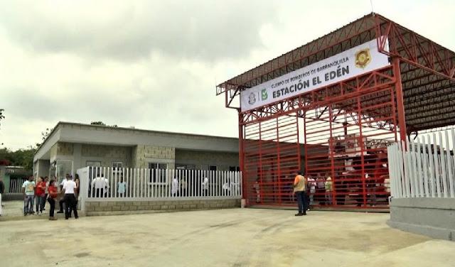 Por Covid -19 cierran estación de bomberos en Barranquilla