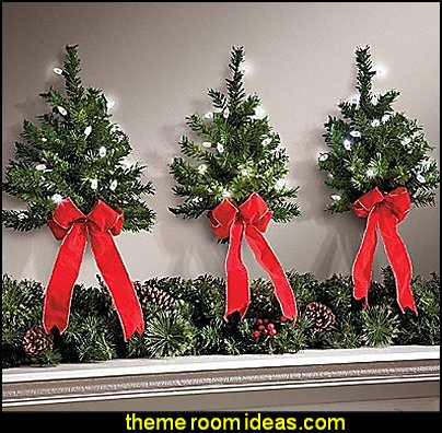 Light Up Wall Christmas Trees With Timer
