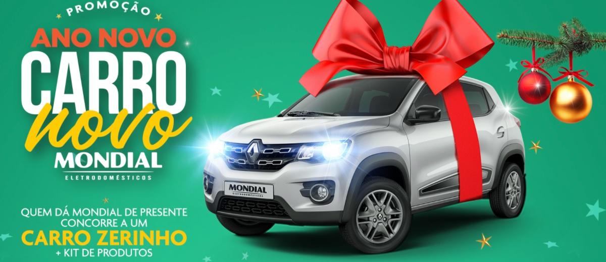 Cadastrar Promoção Mondial 2020 Natal e Final Ano Carro 0KM - Ano Novo Carro Novo e Kit