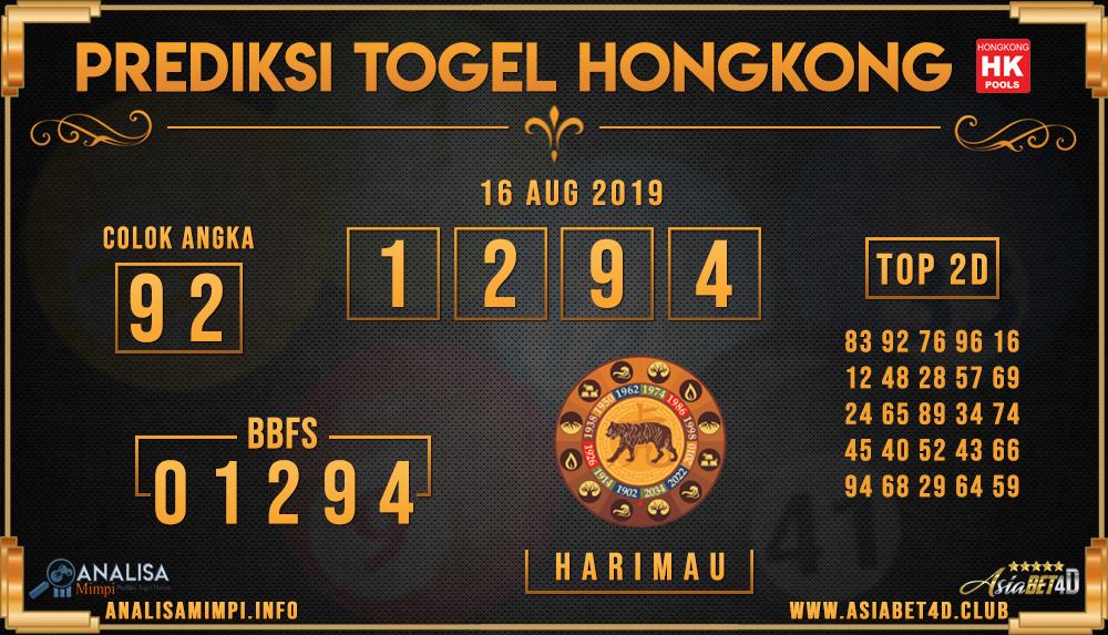 PREDIKSI TOGEL HONGKONG ASIABET4D 16 AUG 2019