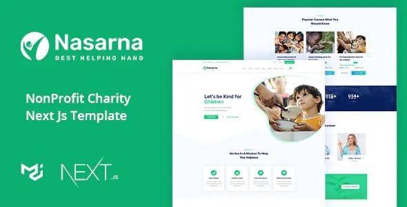 Best Charity Nonprofit Next JS Template