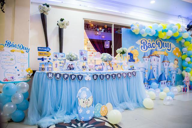 Trang Trí Tiệc Thôi Nôi tại Hoàng Mai