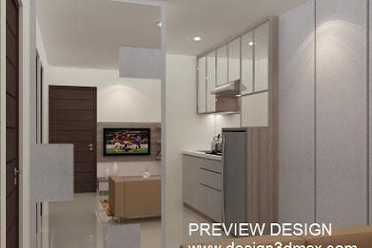 Jasa Desain 3D ruang tengah minimalis interior rumah tinggal