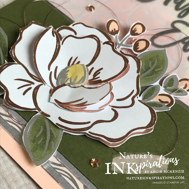 By Angie McKenzie for Ink and Inspiration Blog Hop; Click READ or VISIT to go to my blog for details! Featuring the Flowering Foils Specialty Designer Series Paper from SAB 2nd Release and the Easter Promise stamp set from the January-June 2020 Mini Catalog; #paintedlabelsdies #easterpromisestampset #coloringwithblendsmarkers #inkblending #fussycutting #floweringfoilsspecialtydsp #SAB2ndrelease #bloghops #inkandinspirationbloghop #stampinup #cardtechniques #naturesinkspirations #stampinupcolorcoordination