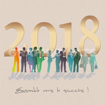 Carte de bonne année 2018
