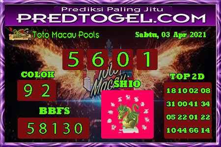 Pred Macau Sabtu 03 April 2021