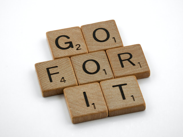 GO FOR IT with scramble letters