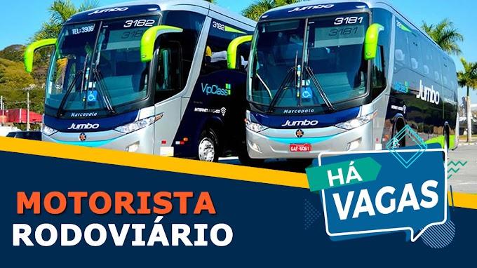 Jumbo turismo abre vagas para motorista de ônibus