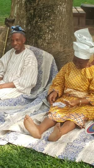 Wow! Check Out This Elderly Nigerian Couple on a Romantic Date At a Park (Photos)
