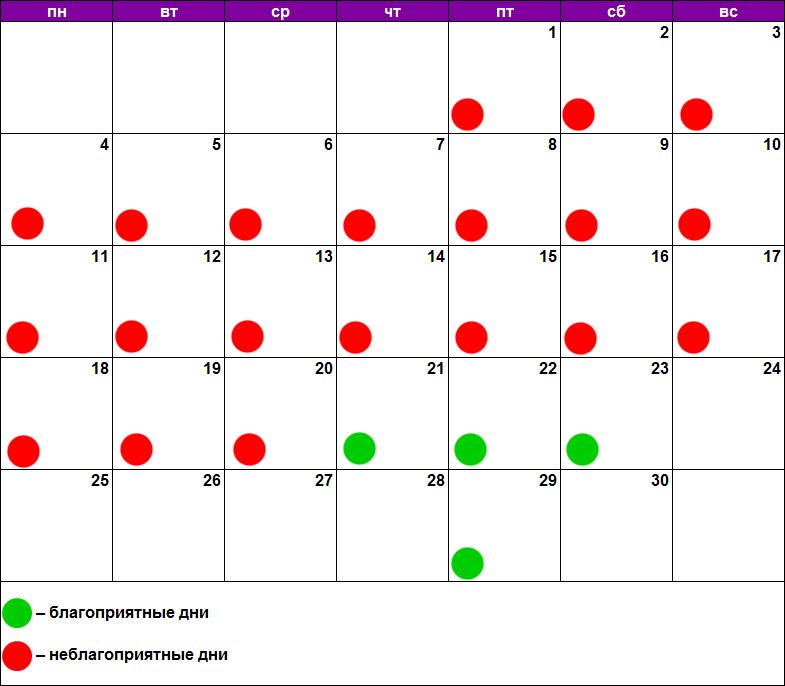 Лунный календарь похудения и диет ноябрь 2019