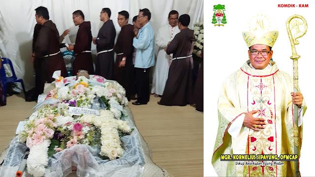Umat Katolik KAM Doakan Kepergian Fransiskus Hotman Sipayung
