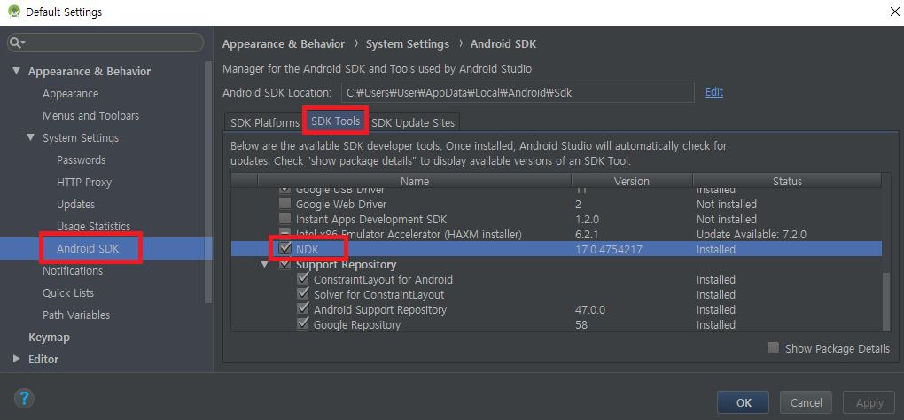 HanMin의 세상사는 이야기: [Unity Android] NDK is missing a