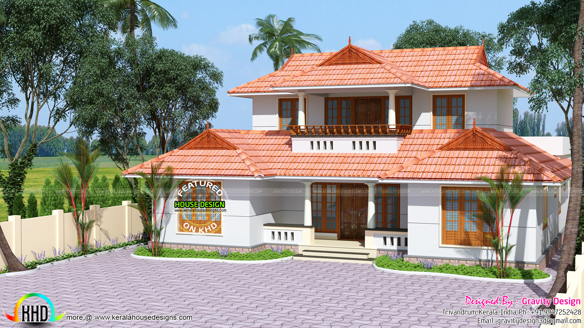 Traditional kerala roof house kerala home design and for Kerala traditional home plans